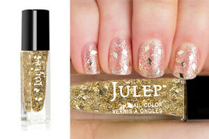 NEW! Julep nail polish CHANTEL ~ Holographic gold diamond glitter top coat
