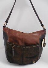 New The Sak Iris Teak Multi Leather Shoulder Bag $129rt