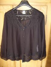 Vero Moda M 36 38 transparente Bluse schwarz Spitze Laces Top