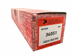 AB DICK 360 8800 SYNTAC Aqua Ductor Chrome Rubber Roller 76631 / 36051