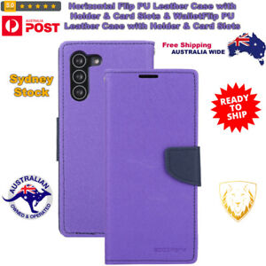 Horizontal Flip PU Leather Case with Holder & Card Slots & Wallet For Samsung