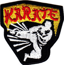 """KARATE""- Iron On Embroidered Applique Patch -Sports, Words, Martial Arts"