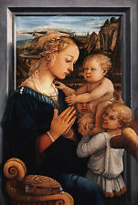 PAINTING FRA LIPPI MADONNA WITH CHILD AND TWO ANGELS POSTER ART PRINT LLF0277