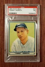1941 Play Ball #39 Tommy Henrich New York Yankees Original Baseball Card PSA 7