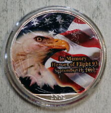 Heroes of Flight 93, Commemorative Decal Overlay on 2002 Silver Eagle   0413-01