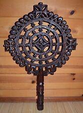 Large Handmade Ethiopian Orthodox Christian Wooden Processional Cross, Ethiopia