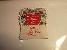 Valentines Greetings Honeycomb Old Card
