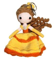 """New listing 5"""" Crochet Princess Beauty Doll Keychain, String Toy Hanging Ornament Decoration"""