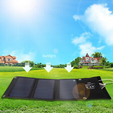 Vodool 5V 21W Dual USB Solar Panel Power Bank Charger Foldable For Mobile Phone