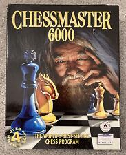 Chess master Chess Master 6000 Box PC Game ON CD-ROM Windows 95/98