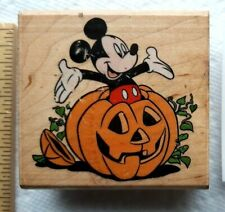 Vintage Mickey Mouse Unlimited 426 E  Halloween rubber stamp Disney pumpkin