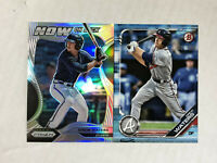 DREW WATERS LOT OF 2 2020 Prizm Now SILVER HOLO SP RC + '19 Bowman BLUE RC /499!