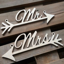 Letrero de boda de madera rústica Mr&Mrs Arrow Signs Wedding Party Chair DecorVP