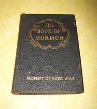 1920 BOOK OF MORMON PROPERTY OF HOTEL UTAH CHURCH JESUS CHRIST LATTER DAY SAINT