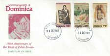 DOMINICA FDC - PICASSO CENTENNIAL COMBO - MONARCH SIZE - CACHETED - NICE!!