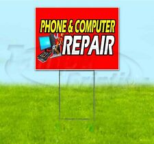 PHONE & COMPUTER REPAIR 18x24 Yard Sign WITH STAKE Corrugated Bandit ELECTRONIC