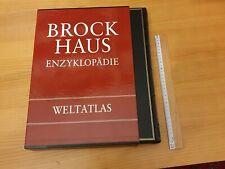 Brockhaus Enzyklopädie Weltatlas neuwertig im Schutzfolder 2. Auflage Top