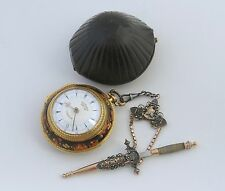 POCKET WATCH EDWARD PRIOR OTTOMANO C.1850  WITH FANTASTIC CHATELAINE, WORKING