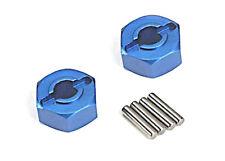 Traxxas 1654X Blue Aluminum Wheel Hub Hexes and Pins