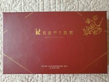 Respire wine 4-piece accessory kit: opener, stopper, foil cutter and aerator Nib