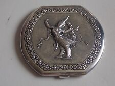 Absolutely Stunning Sterling Silver Powder Compact