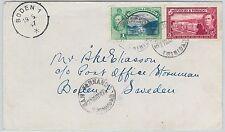 59580  - TRINIDAD & TOBAGO   - POSTAL HISTORY:  COVER to SWEDEN - 1947
