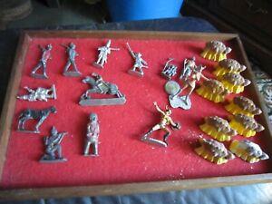 Antique Vintage Lead / Metal figures and a group of Britain's metal haystacks