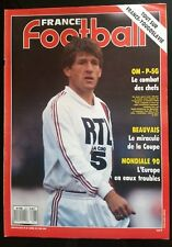 France Football 2/5/1989; Om-PSG/ Beauvais/ Pays-Bas-RFA/ France-Yougoslavie