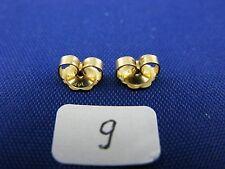 14K Gold  Friction Pushback Push Back Earrings Backs   (1 Pairs)    item #9