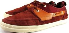 Zara Man Boat Deck Shoes Size 11 Euro Redish Brown Suede Leather