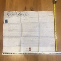 1856 Glastonbury Indenture manuscript 15th April - Somerset mid C19th antique
