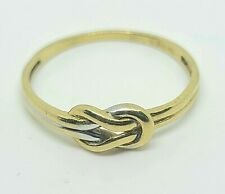 10K Solid Yellow And White Gold Infinity Weave / Knot Design Ring Size 7.5