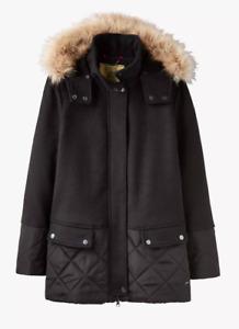 JOULES New Wilma Coat Black Sz 6 8 10 12 14 16 RRP£199 FreeUKP&P
