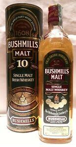 BUSHMILLS SINGLE MALT IRISH WHISKEY 10 YEARS OLD (VINTAGE ANNI '80) - 70 CL.