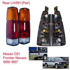 Tail Lights Lamp Brake Rear LH RH For Nissan D21 Frontier Navara Pickup 1986 97