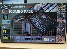 SUMVISION 3 IN 1 COMBO-PACK KEYBOARD, SPEAKER, MOUSE HK5050 BEIGE - CLEARANCE