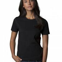 Size 12-14 by Kustom Kit NEW long sleeve Ladies unusual deep neck black top