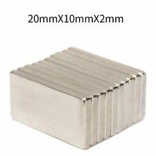 100x 20x10x2mm N52 Neodymium Block Magnet Super Strong Rare Earth Magnets Long