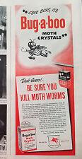 1945 Bug-a-boo Insecticide Moth Crystals Gbye Boys Color Original Ad
