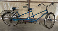 Rare Vintage 1967 SCHWINN De Luxe TWINN Blue 5-Speed Tandem Bicycle ORIGINAL
