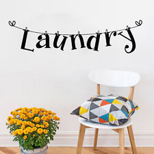 DIY Laundry Room Wall Sticker Home Decor Vinyl Art Mural Removable Decals