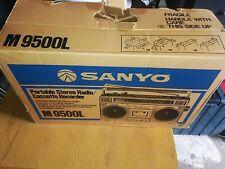 Vintage Sanyo Radio Cassette Player With Box M9500L