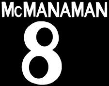 Real Madrid McManaman local Camiseta De Fútbol Número Letra calor impresión de fútbol una