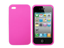 Pink Silicone Case Skin Cover for Apple iPhone 4 4G UK