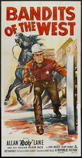 """Bandits of the West Allan """"Rocky"""" Lane western classic movie poster print"""