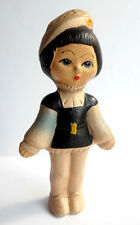 1950s Ussr Russian Soviet Sound Large Size Rubber Toy Doll Young Page