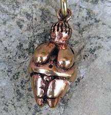 sehr schöne Venus von Willendorf aus Bronze Anhänger  Altsteinzeit Urmutter 3D