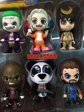 6pcs/Set Suicide Squad Cosbaby Joker Harley Quinn Enchantress Figure NEW NO BOX