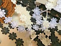 "25mm/1""  Guipure Daisy Lace Trimming.Sewing & Crafts.Choose Colour and Length"