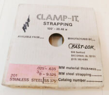 "Fast Lok Clamp-It 3/8"" Galvanized Banding Steel Strap 